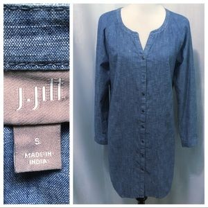 Like New ~ J.Jill Chambray Dress - Small